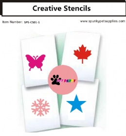 Creative grooming stencils