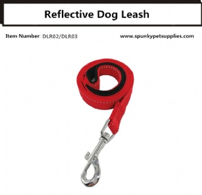 Reflective Dog Leash Red
