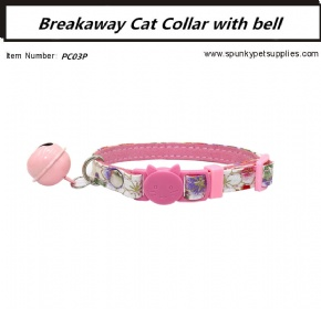 Japanese Style Breakaway Cat Collar Pink