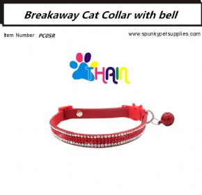 Breakaway Cat Collar with bell Red