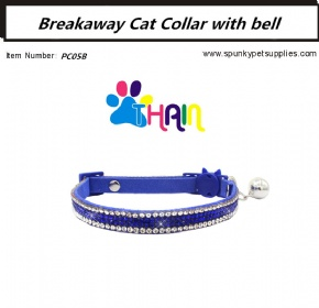 Breakaway Cat Collar with bell Blue