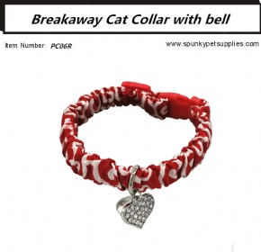 BREAKAWAY CAT COLLAR WITH BELL KARAKUSA Red