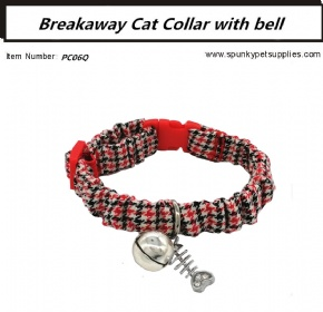 BREAKAWAY CAT COLLAR WITH BELL Houndstooth